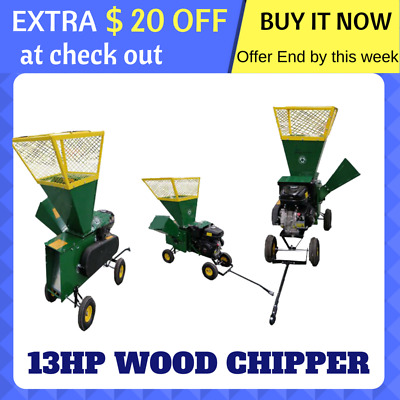 Wood Chipper Shredder Mulcher Garden 13Hp Petrol Engine New