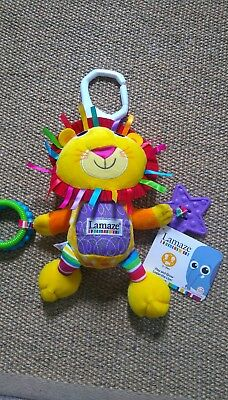 Lamaze Logan the Lion Play and Grow Baby Soft Plush Cloth Toy Rattle Teether