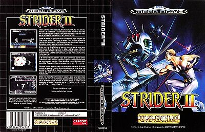 Strider II Sega Mega Drive PAL Replacement Box Art Case Insert Cover Repro