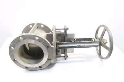 Rovalve Stainless Flanged Knife Gate Valve 150Psi 6 In D570242