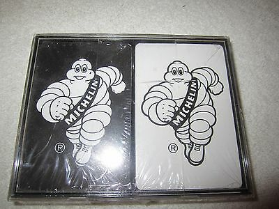 2 Sealed Decks Michelin Michelin Man Playing Cards (1) Black And (1) White