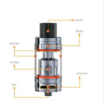 100% New TFV8 Cloud Beast 6ml Tank Black Silver High Quality Wonder New Pro