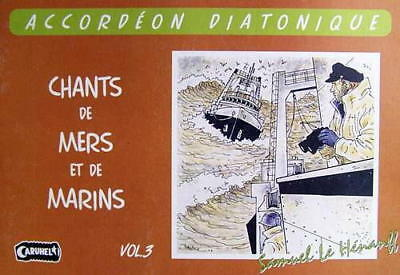Accordion diatonic Tablatures Songs of Marins No. 3 new with CD