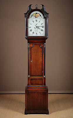 Antique Georgian Welsh Oak Longcase Clock c.1800.