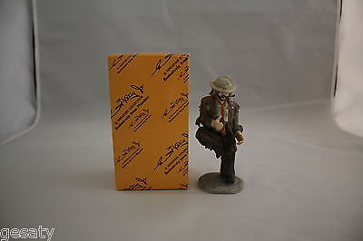 "Porcelain Figurine Emmett Kelly, Jr. Miniature Collectible ""why Me?"""