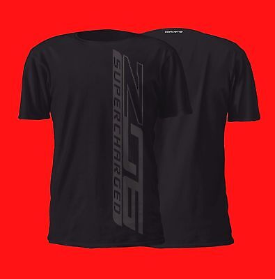 New C7 Chevrolet Corvette Z06 Black on Black Vertical Design Cotton T Shirt 2017