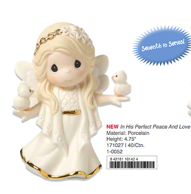 Precious Moments Christmas Annual Angel Figurine New 2017 171027