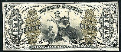 "Fr. 1355 50 Fifty Cents Third Issue ""Justice"" Fractional Currency Au+"
