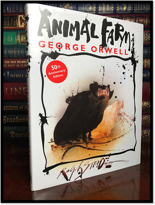 Animal Farm by George Orwell 50th Anniversary New Special Illustrated Hardcover