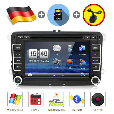 "7"" Autoradio Mit GPS Sat Navi CD/DVD Player BLUETOOTH USB SD Für VW PASSAT GOLF"