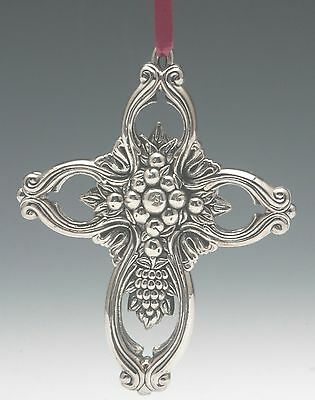 Sterling Silver Francis I Cross Ornament by Reed & Barton 2nd Edition