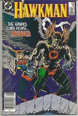 Hawkman #13 (Aug 1987, DC) Hawkman & Hawkgirl Return To Earth!