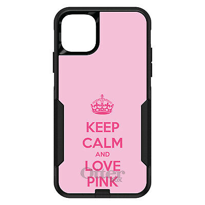 OtterBox Commuter for iPhone 7 8 Plus X XS Max XR Keep Calm and Love Pink