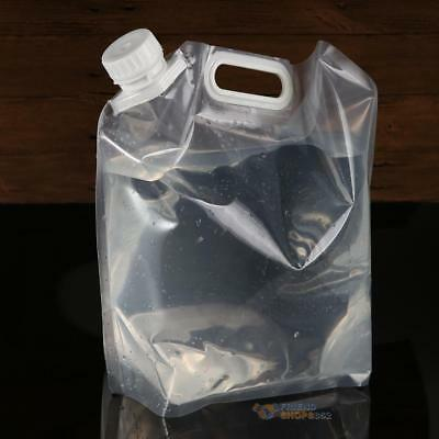 Portable Folding Drinking Water Container Storage Lifting Bag Camping Supply 5L