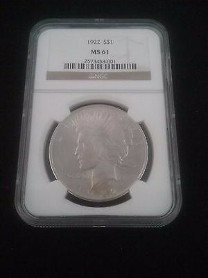 1922 Silver Peace Dollar (MS61) NGC