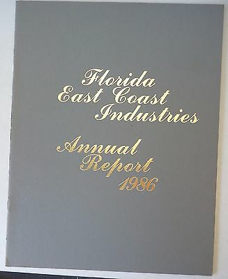 Florida East Coast Railroad 1986 Annual Report