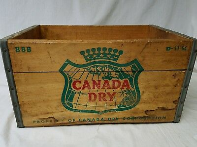 Vintage Canada Dry Wood Box Crate D 11 64 Solid