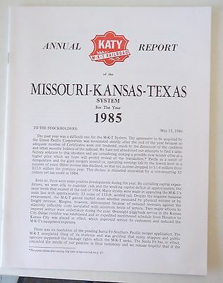Missouri Kansas Texas Railroad 1985 Annual Report
