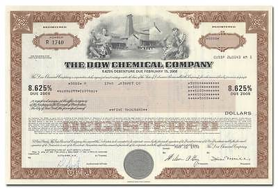 Dow Chemical Company Bond Certificate