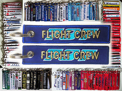 Keyring FLIGHT CREW BOEING 737 blue/gold keychain for Pilot Crew