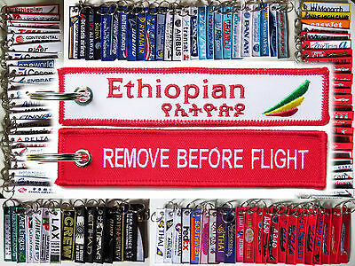 Keyring ETIHOPIAN AIRLINES Remove Before Flight keychain for Pilot Crew