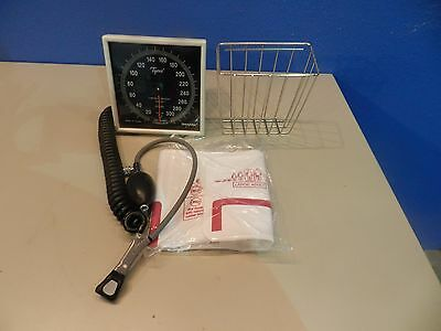 Welch Allyn Wall Mounted Sphygmomanometer with Bulb, Cuff, Basket - LOT 7