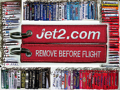 Keyring JET 2 Airlines UK Remove Before Flight keychain for Pilot Crew