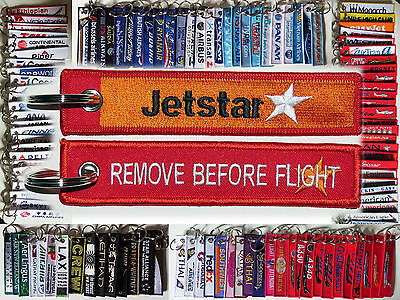 Keyring JETSTAR Asia Airline Remove Before Flight keychain for Pilot Crew