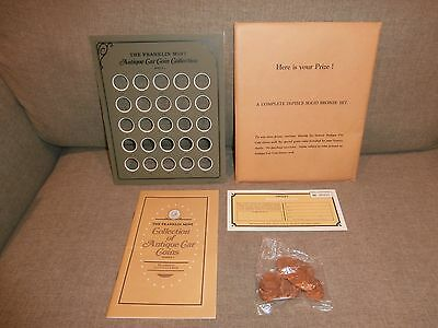 Franklin Mint 25 Antique Car Bronze Coin Collection 1901-1925 - Series 1