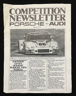 Porsche & Audi Competition Newsletter March 1981