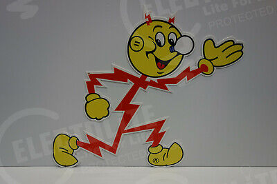 "Reddy Kilowatt Power Light ""RUNNING"" SIGN ELECTRICIAN GIFT HEAVY DUTY DIE CUT"