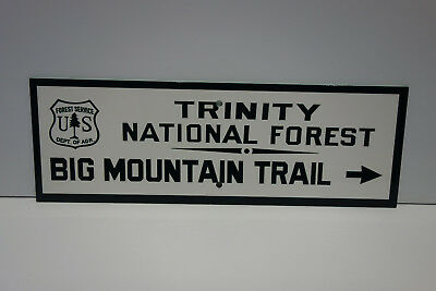 USFS ENAMEL COAT Sign Trinity National Forest TRAIL SIGN Forest Service