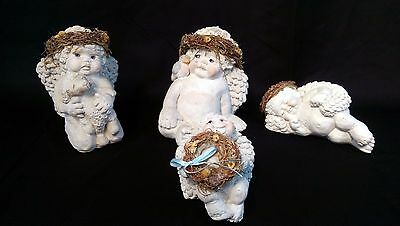 Lot of 4 Dreamsicles by Cast Art & Signed By Kristin Angel Cherub Figurines