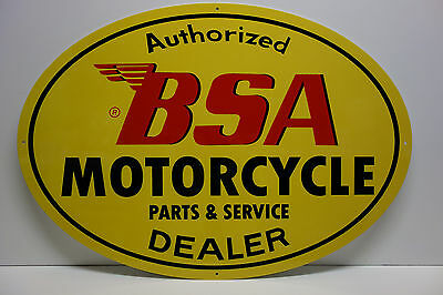 "Bsa Motorcycle Parts And Service Sign. 21"" By 30""  Ovular"