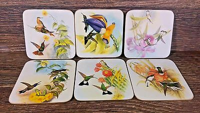 Cloverleaf Six Traditional Coasters - Hummingbirds - Made In England