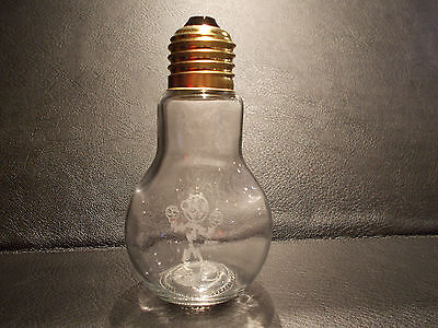 Reddy Kilowatt ETCHED GLASS LIGHT BULB. Excellent! A PLUS!