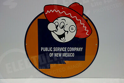Reddy Kilowatt NEW MEXICO DIE CUT SIGN GREAT COLORS ELECTRICIAN GIFT SIGN