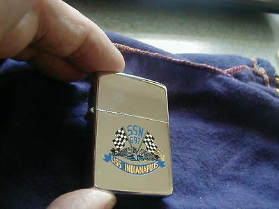 1991 Near Mint Zippo Lighter Uss Indianapolis Ssn 697