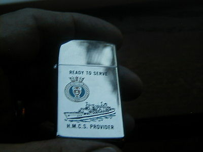 1991 Near Mint Slim Zippo Lighter M.m.c.s. Provider Ready To Serve