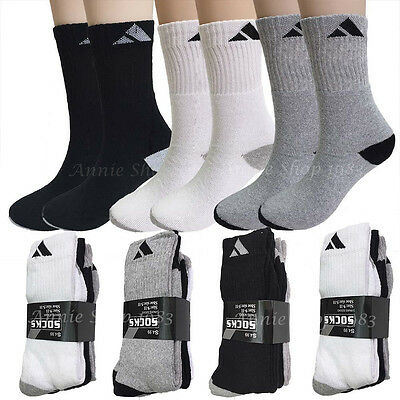 New Lot 3 12 Pairs Mens Crew Quarter Sport Athletic Socks Cotton Size 9-11 10-13