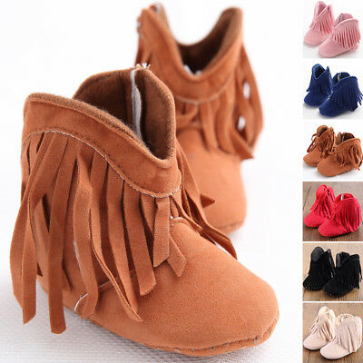 Toddler Infant Newborn CASUAL Baby Girl Shoes Soft Sole WARM Boots Prewalker NEW