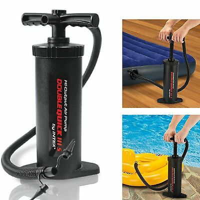 Air Hand Pump Double Quick Inflatable Dinghy Mattress Pump Pool Inflator 8189