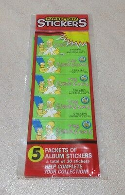 "1990 Diamond Publishing ""The Simpsons Diamond Stickers"" - Rack Pack (5 Packs)"