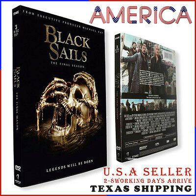 BLACK SAILS Season 4 (DVD, 2017, 3-Disc Set) FACTORY SEALED