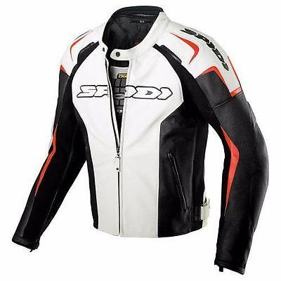 Spidi Track Jacket White Leather Rrp $799 All Sizes