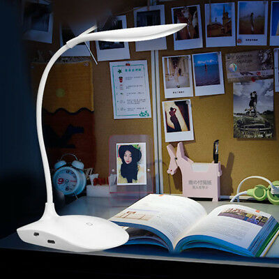 UK Warm White Flexible LED Table Desk Lamp Bedside Reading Home Office Light
