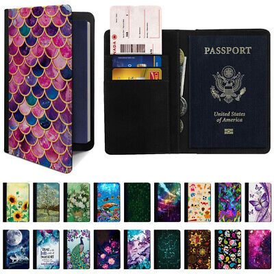 Passport Holder ID Card Travel Wallet Organizer Protector Cover Case