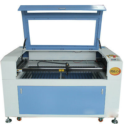 ReCi 100W CO2 LASER ENGRAVING MACHINE CUTTER CW-3000 Chiller motor table