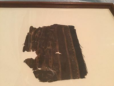 Antique Ancient Coptic Egyptian Textile Fragment