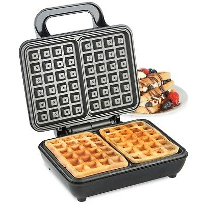 VonShef Belgian Waffle Maker Iron Machine 2 Slice Automatic Temp Control 1000W